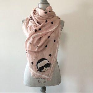 Karl Lagerfeld large fine knit scarf